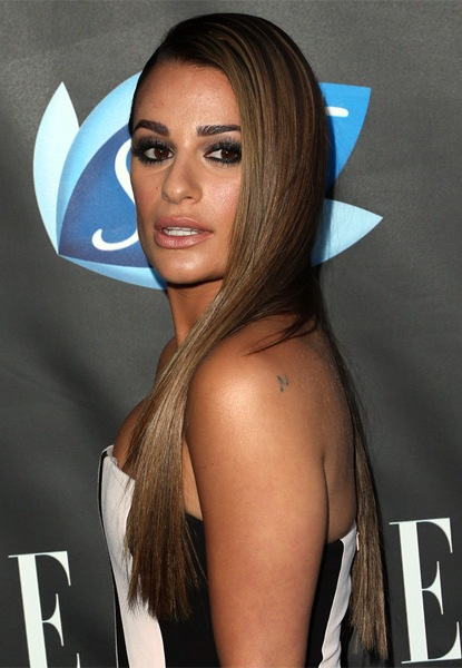 Lea-Michele-Long-Straight-Hairstyle Most Beautiful Celebrity Long Haircuts To Adore