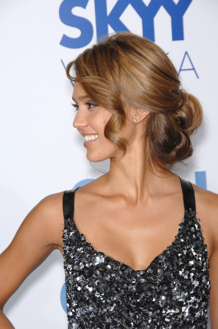 Looped-Low-Chignon-Hairstyle Most Gorgeous Looking Chignon Hairstyles