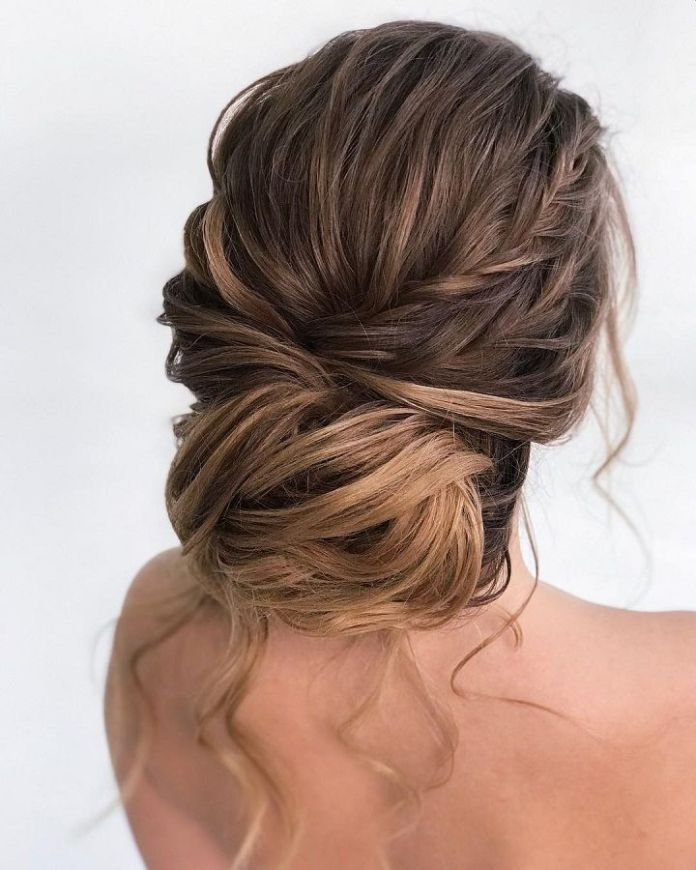 Loose-Braid-Low-Chignon-Hairstyle Most Gorgeous Looking Chignon Hairstyles