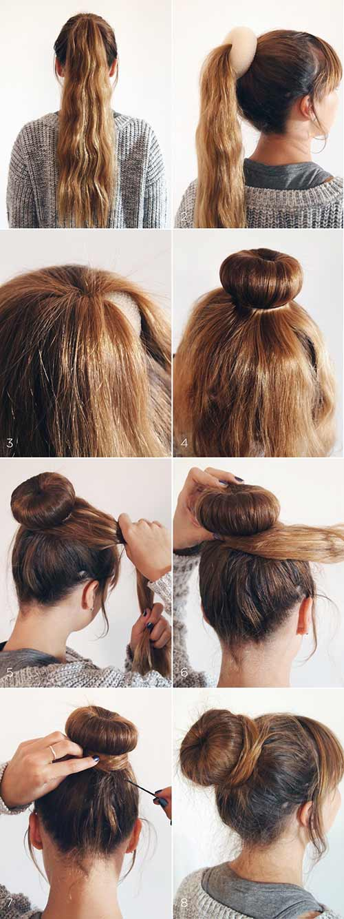 Messy-Sock-Bun-Chignon-Hairstyle Most Gorgeous Looking Chignon Hairstyles