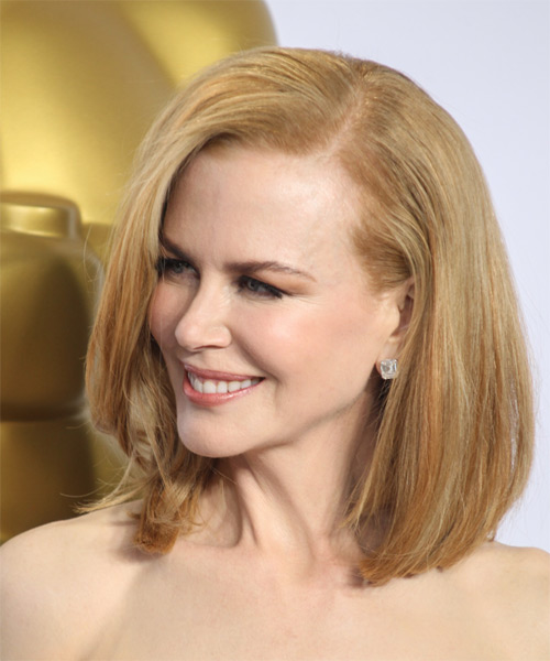 Nicole-Kidman-Medium-Straight-Bob-Hairstyle Hottest And Trendy Bob Haircuts For Stylish Look