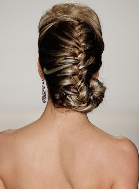 Puffy-French-Braid-With-Spiral-End Bridal Hairstyle Ideas For Your Reception