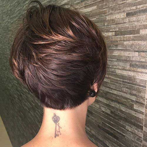 Short-Layered-Pixie-Haircut-Back-View Best Layered Pixie Hairstyles