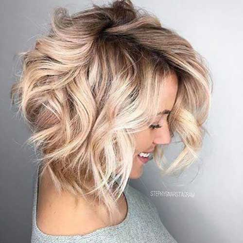 Short-Wavy-Bob-Haircuts-3 Best Short Wavy Bob Haircuts
