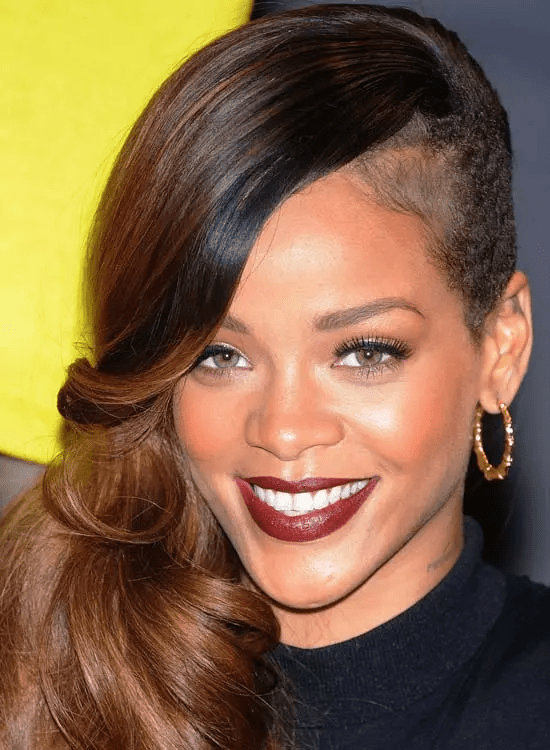 Side-Shaved Best Rihanna Hairstyles