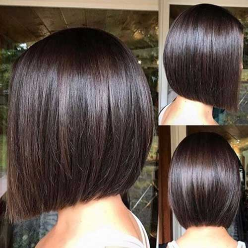Straight-Brown-Hair Short Bob Cuts for Stylish Ladies