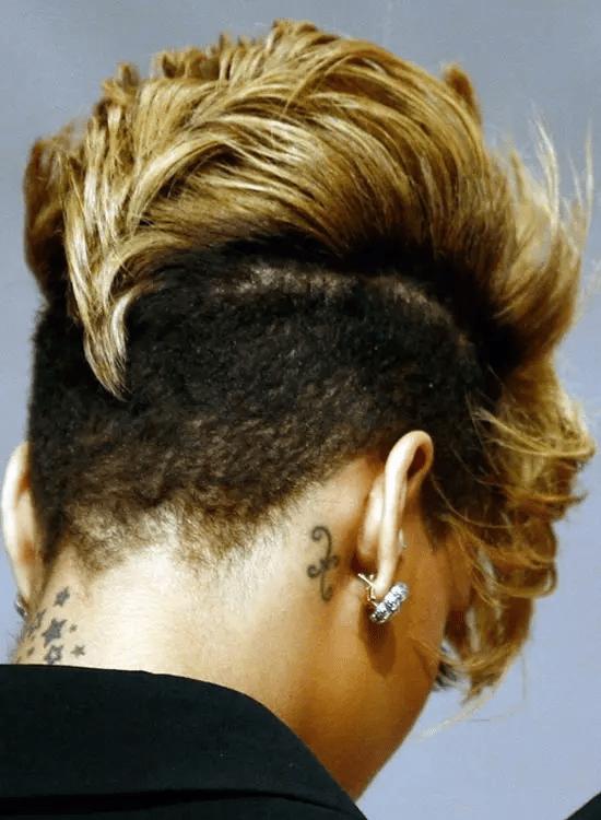 The-Sharp-Mohawk Best Rihanna Hairstyles