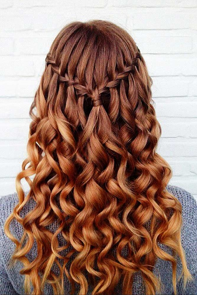 The-Waterfall-Look-with-Side-Braids Christmas Party Hairstyles to Enhance Your Look