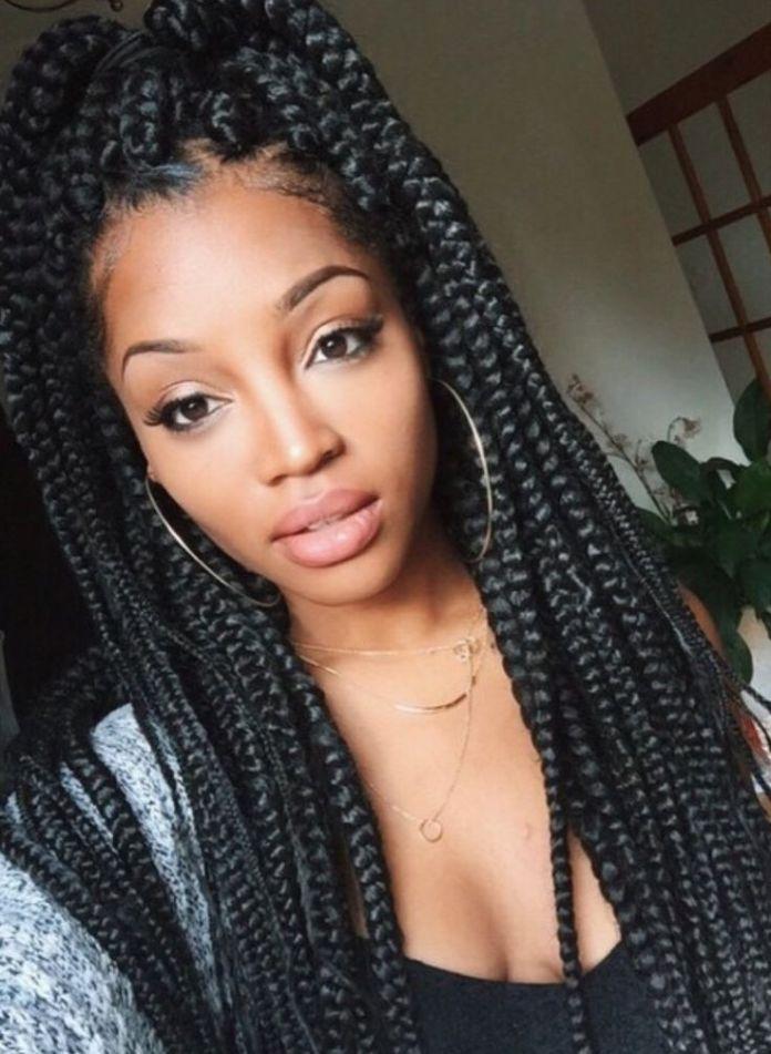 Thick-and-Long-Jumbo-Box-Braids Stylish and Stunning African American Braids