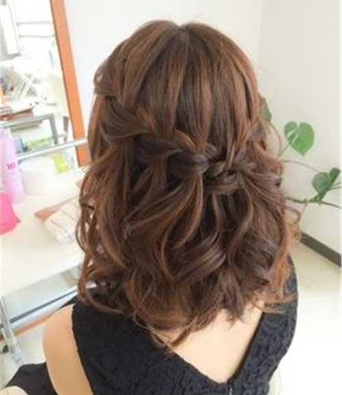 Waterfall-Braided-Hairstyle-for-Short-Hair Alternatives Cute Braids for Short Hair
