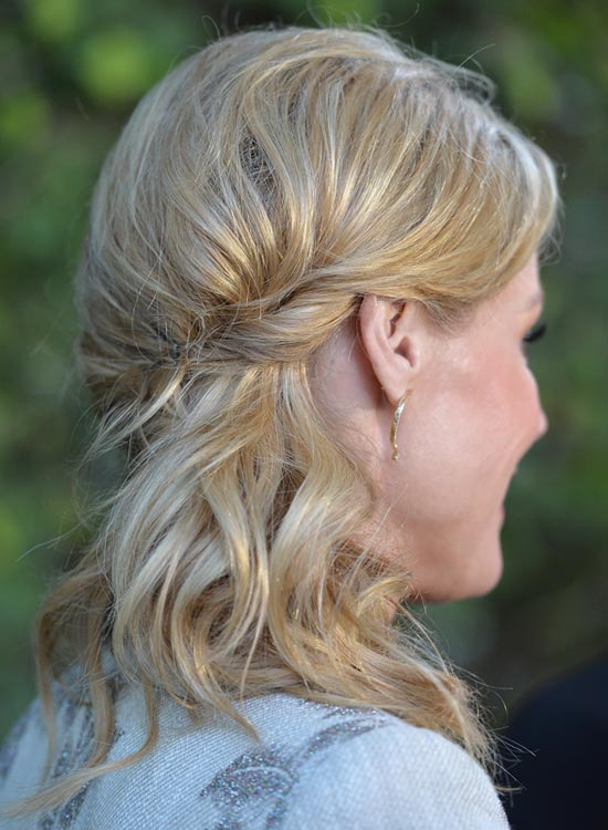 Wavy-Side-Hairdo-With-Twisted-Side-Sweep Bridal Hairstyle Ideas For Your Reception