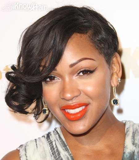 Alluring-and-Attractive-Pixie-Cut-with-Nice-Side-swept-Hair Short Hairstyles for Black Women 2020