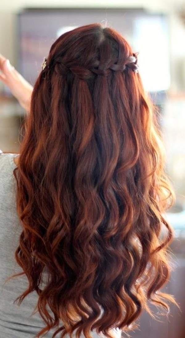 Back-Braid-with-Falling-Curls Hot and Happening Girls Hairstyles for Party