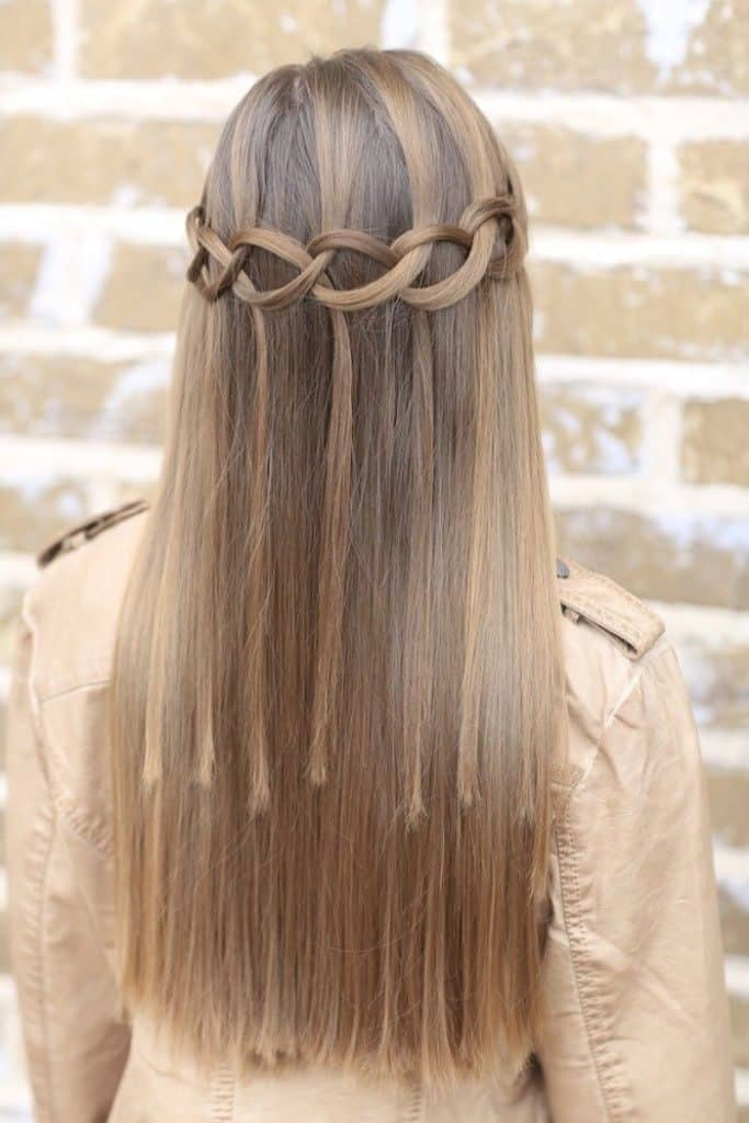 Blank-Bridge-Braid Hot and Happening Girls Hairstyles for Party
