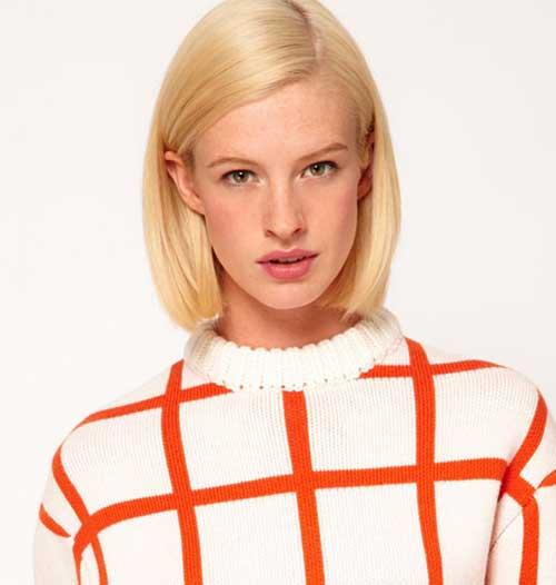 Blonde-Bob-Hairstyle Cute Easy Short Haircuts