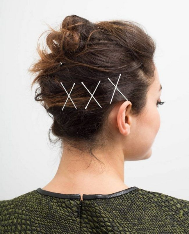 Cross-Hairpins Most Attractive Hairstyles with Hair Pins