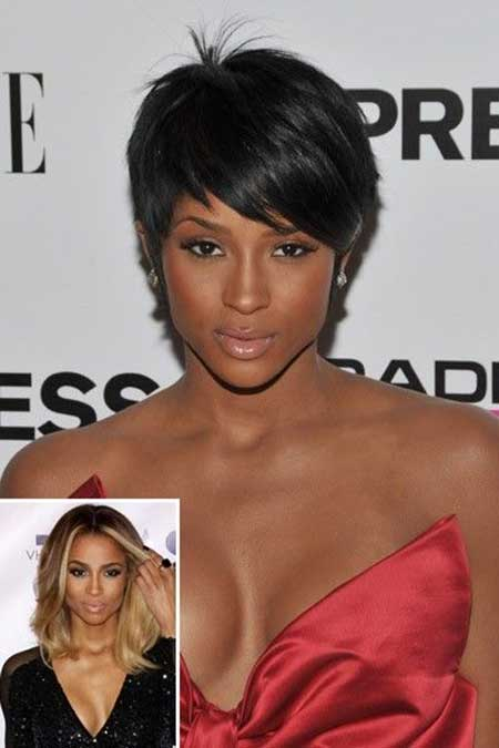 Cute-and-Attractive-Pixie-Cut-with-Little-Spikes-at-the-Top Short Hairstyles for Black Women 2020