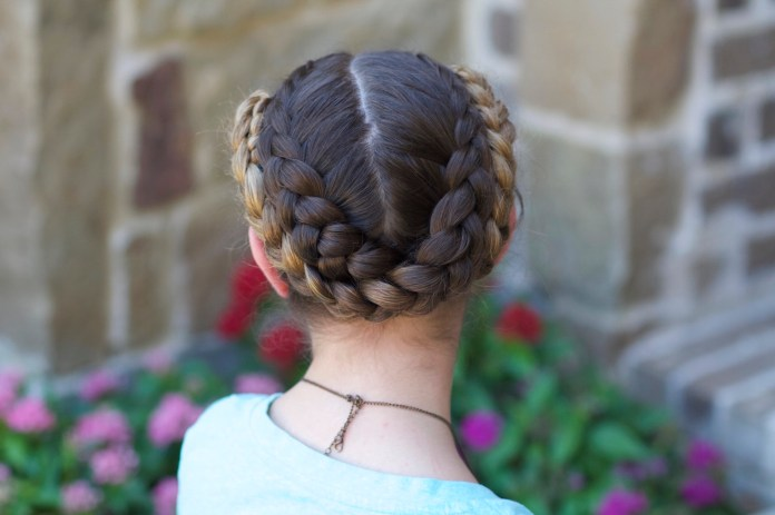 Double-Dutch-Braid-Swing Cute Hairstyles for Girls to Look Charismatic