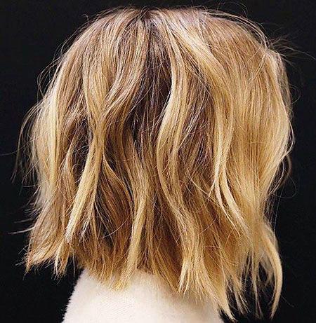 HONEY-BLONDE Short Messy Bob Hairstyles 2020
