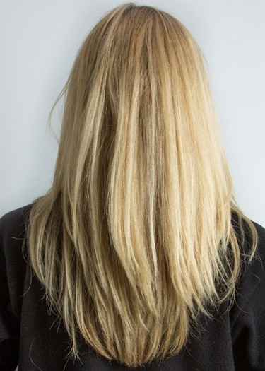 Long-Straight-Golden-Blond-Hairstyle Most Glamorous Long Straight Hairstyles for Women