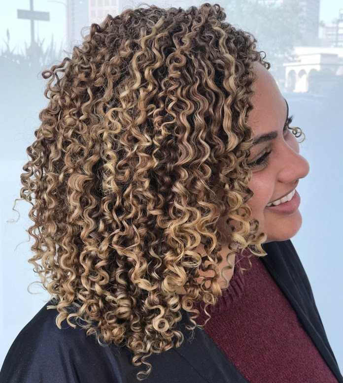 Medium-Length-Curly-Hair-with-Ringlets Cute Curly Hairstyles for Women