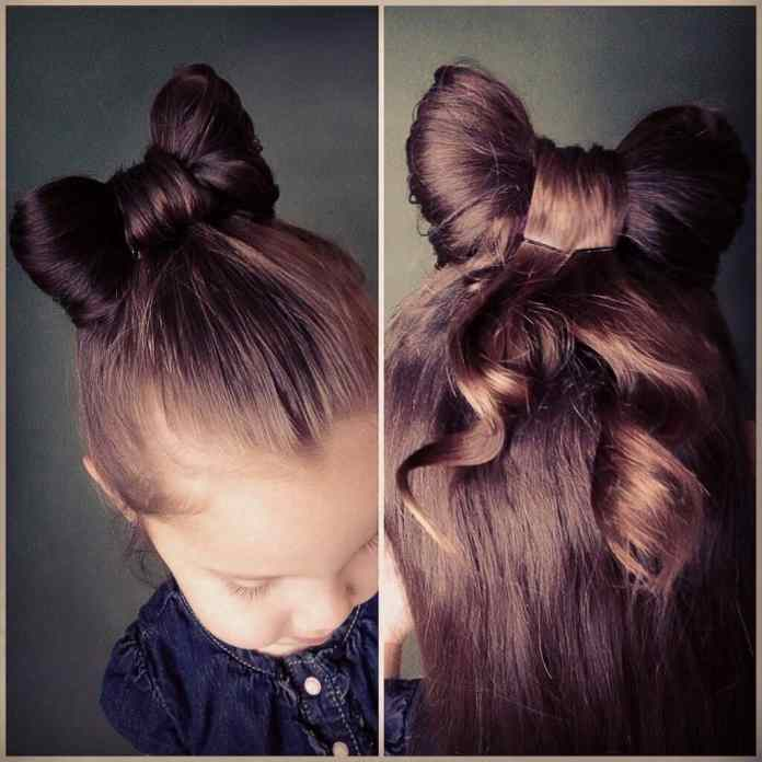 Minnie-Mouse-Bow Cute Hairstyles for Girls to Look Charismatic
