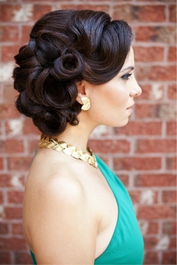 Retro-Rose-Bun Hot and Happening Girls Hairstyles for Party