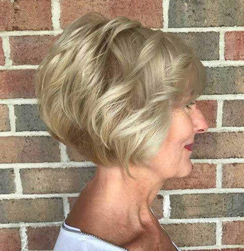 Short-Bob-Haircut-for-Older-Ladies Short Haircuts for Older Women 2019