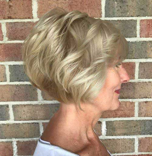 Short-Bob-Haircut-for-Older-Ladies Short Haircuts for Older Women 2019
