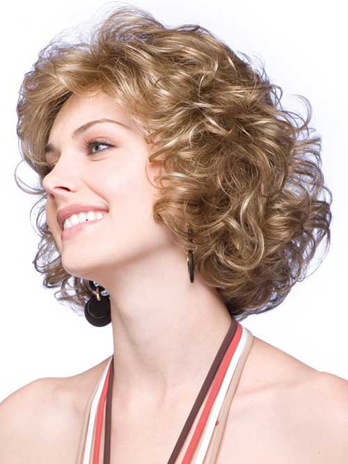 Short-Cute-Hairstyle-for-Thick-Blonde-Curly-Hair-Type Cute Short Hairstyles For Thick Hair