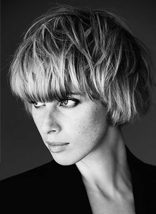 Short-Cute-Hairstyle-for-Thick-Pixie-Bob-Hair-Cut Cute Short Hairstyles For Thick Hair