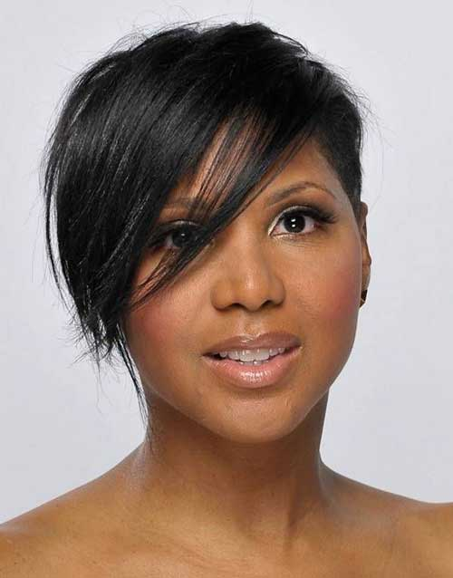 Short-Hair-and-Side-Bangs-for-Black-Women New Short Hairstyles With Bangs For Black Women