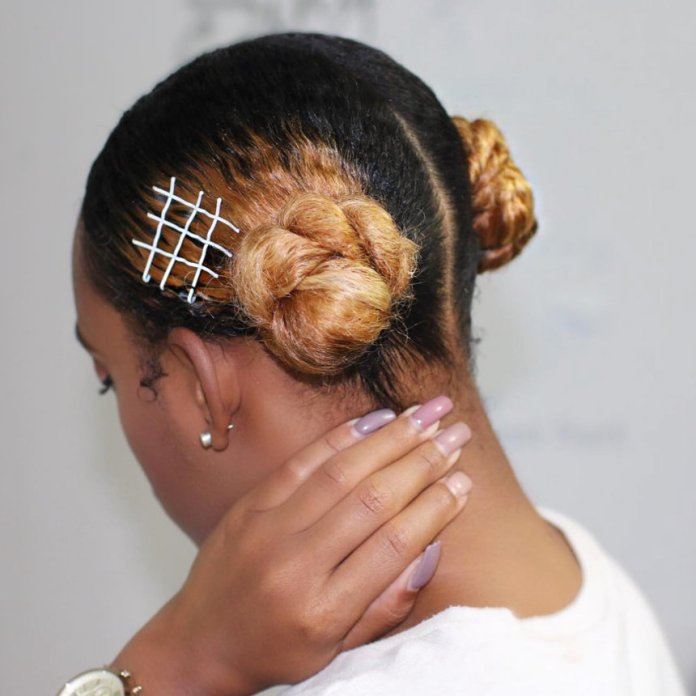 Side-Parted-Buns Most Attractive Hairstyles with Hair Pins