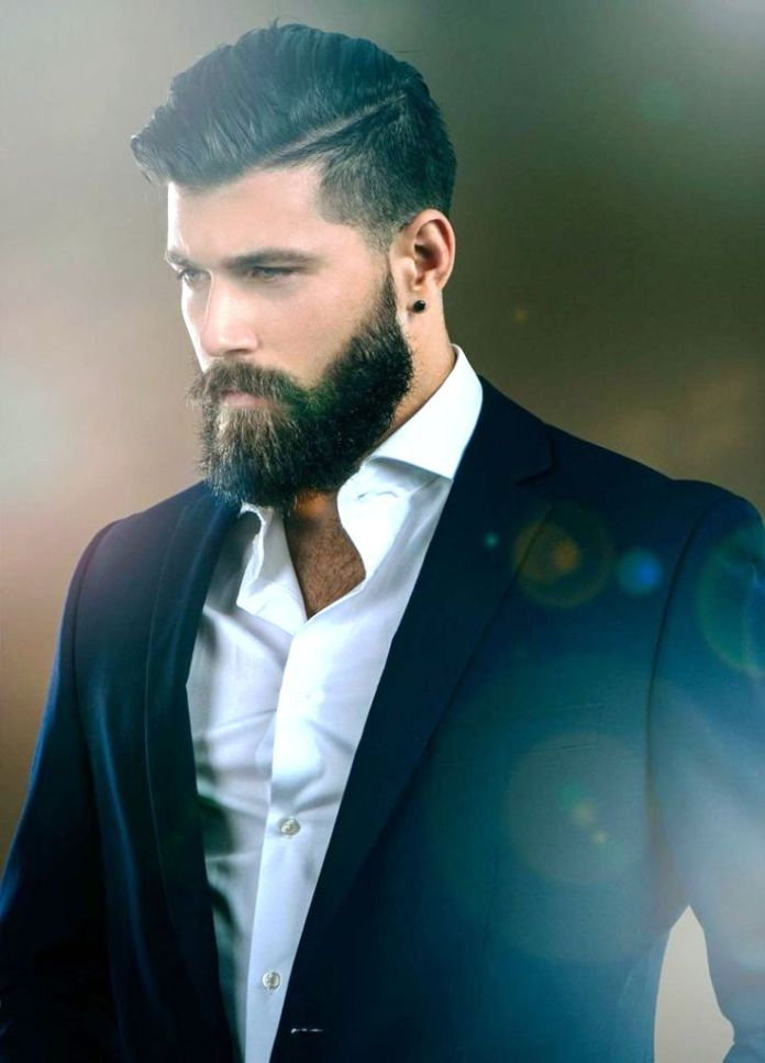 Side-Parted-Hair-with-Undercut Stylish Wedding Hairstyles for Men