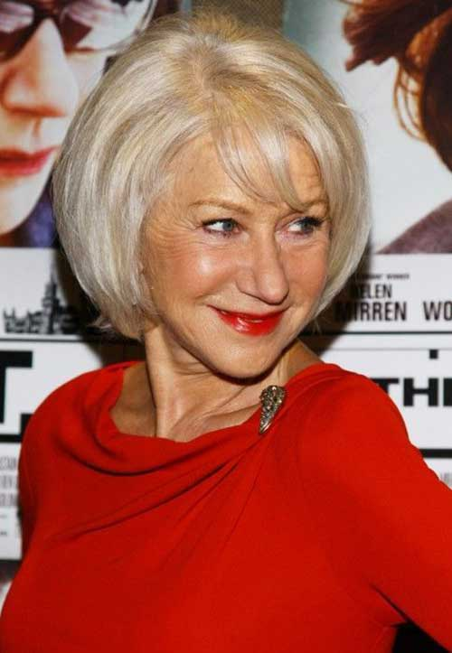 Side-Swept-Grey-Bob-Cut Bob Hairstyles for Women Over 50 – Be Hot And Happening