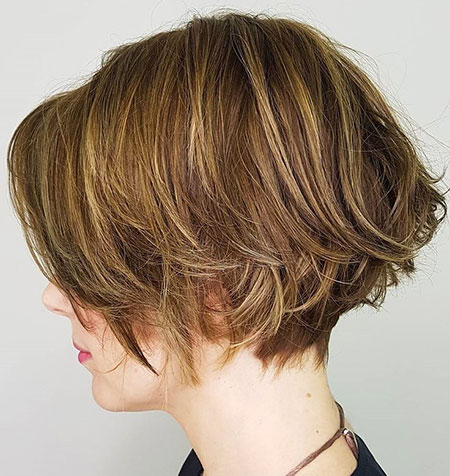 TEXTURED-TRESS Short Messy Bob Hairstyles 2020
