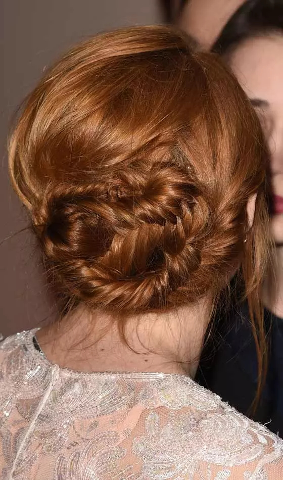 Tousled-Braided-Bun Veil Bridal Hairstyles For Your Wedding Day