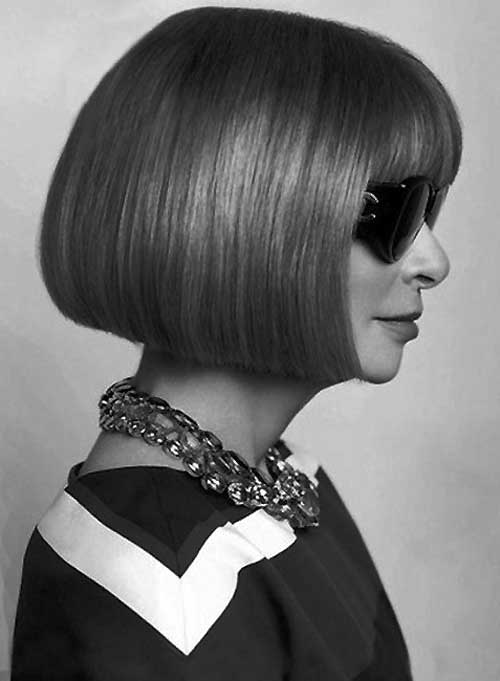 Anna-Wintour-short-hair Best Short Straight Hair for Women