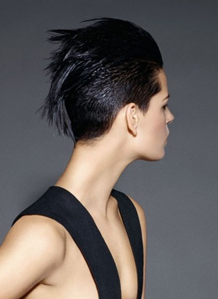 Back-View-of-Hawk-Style Pixie haircuts are undoubtedly the best short haircuts for you