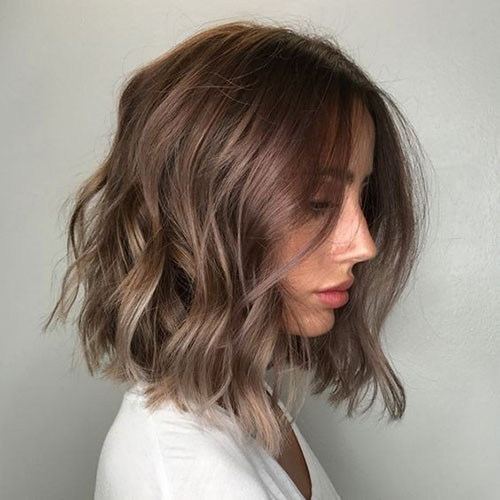 Balayage-Hairstyle-for-Short-Wavy-Hair Lastest Hairstyles For Short Wavy Hair