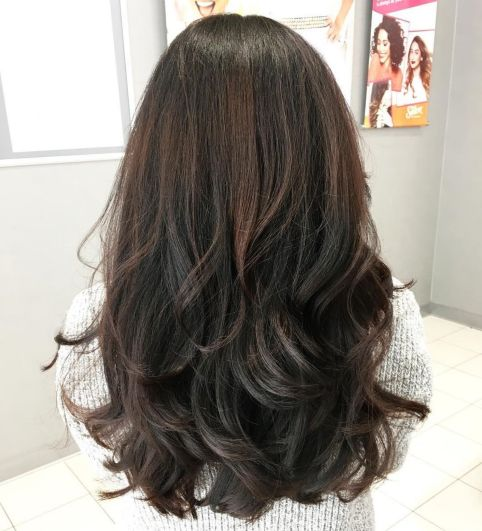 Black-and-Brown-Layered-Cut 12 eye-catching longhair style