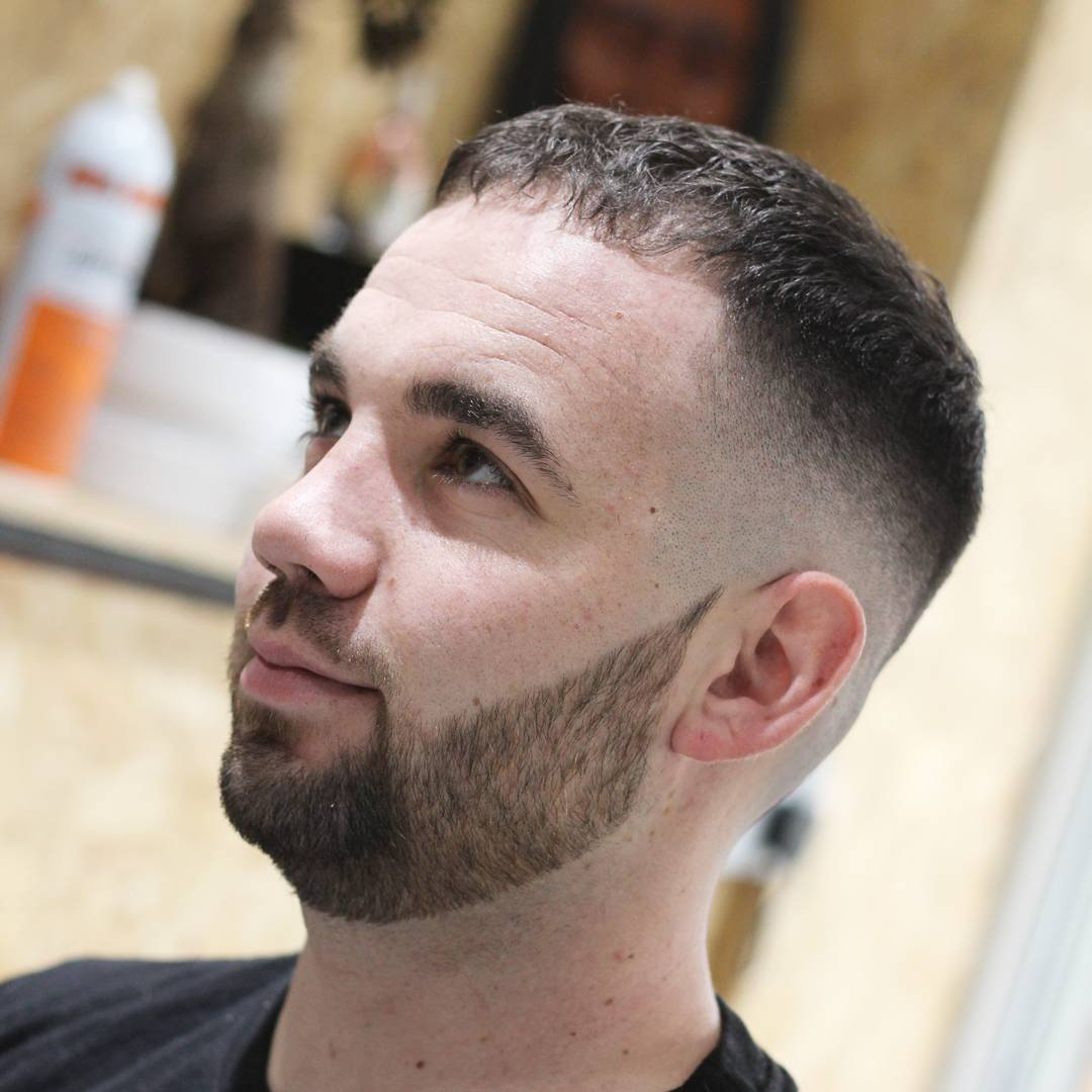 Bowl-Cut-for-Short-and-Frizzy-Hair-with-a-Trimmed-Beard Mens Hairstyles with Thin Hair for Ultra Stylish Look