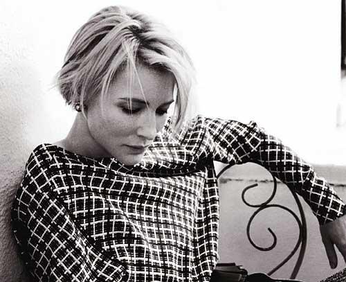 Cate-Blanchett-short-hair Best Short Straight Hair for Women