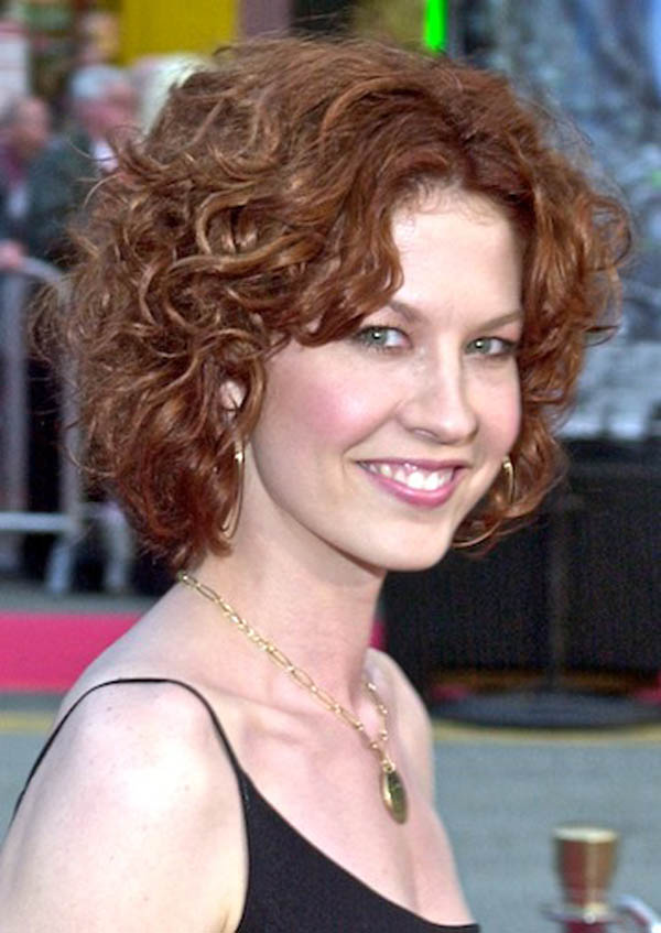Center-Parted-Curly-Hairstyles-for-Women Curly Hairstyles for Women Over 50