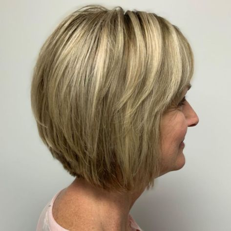 Choppy-Rounded-Bob Short hair – Perfect choice for women over 40