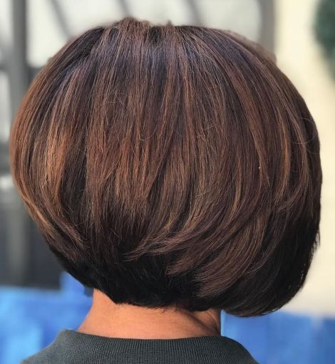 Classic-Layered-Bob-for-Thick-Hair Short Haircuts For Thick Hair