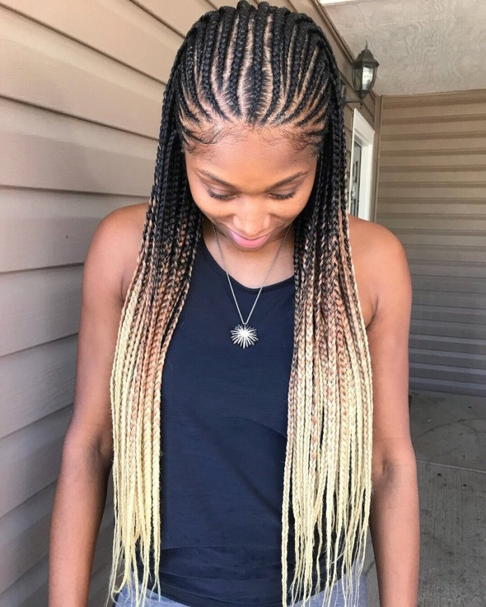 Cornrows-with-the-Goldilocks-Touch Tribal Braids for Super Trendy Appearance