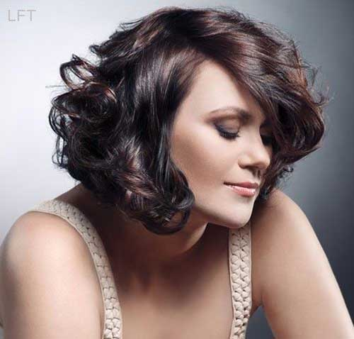 Curly-Wavy Short Haircuts For Thick Hair