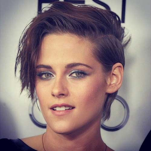 Cute-Pixie-Hairstyle-with-Brown-Color Pixie Hair Styles for 2020