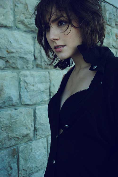 Cute-Short-Messy-Bob-Hairstyle-for-Girls Cute Short Hair Cuts For Girls